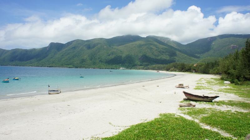 Côn đảo hoang sơ được bao quanh bởi rừng núi