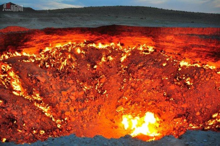 Hố ga tự nhiên vẫn âm ỉ cháy cho đến tận ngày nay.