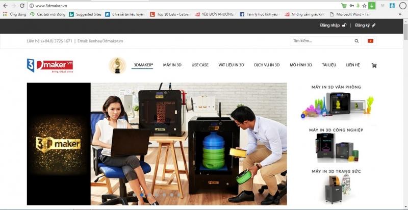 website của 3DMAKER
