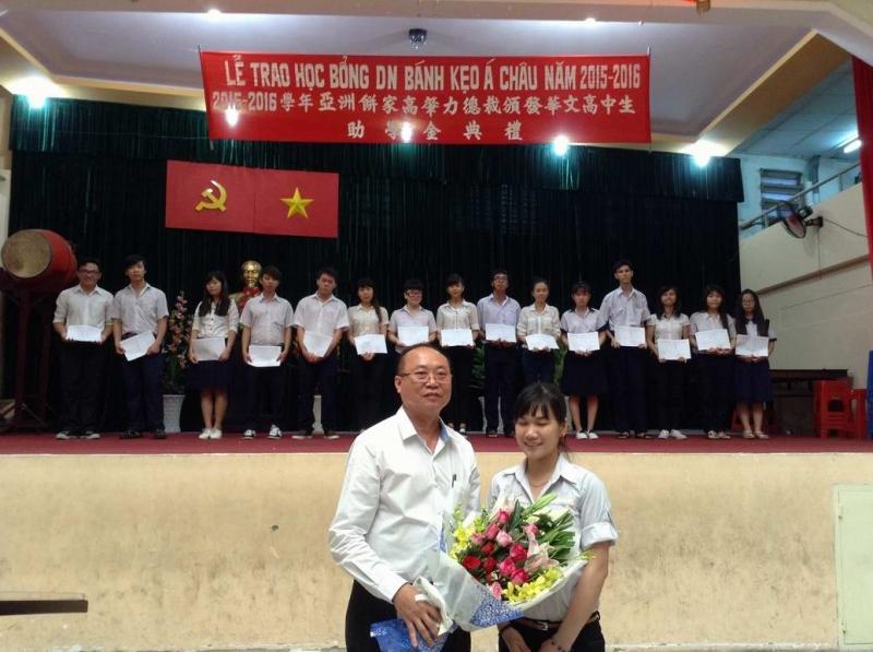 Lễ trao học bổng cho học sinh nghèo của công ty bánh kẹo Á Châu