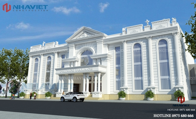 Thiết kế nhà hàng tiệc cưới phong cách tân cổ điển tại Hà Nội