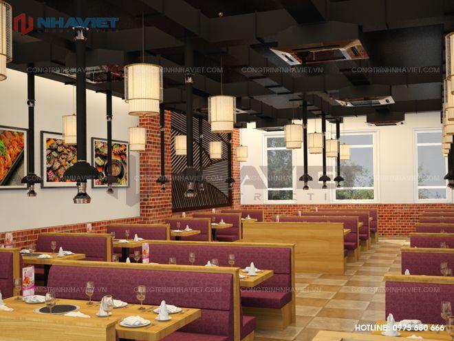 Nội thất nhà hàng Nhà Việt