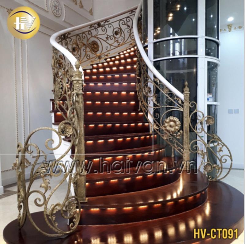 Cầu thang sắt mỹ thuật - Một sản phẩm của Công Ty Cổ Phần Đầu Tư & Công Nghệ Hải Vân