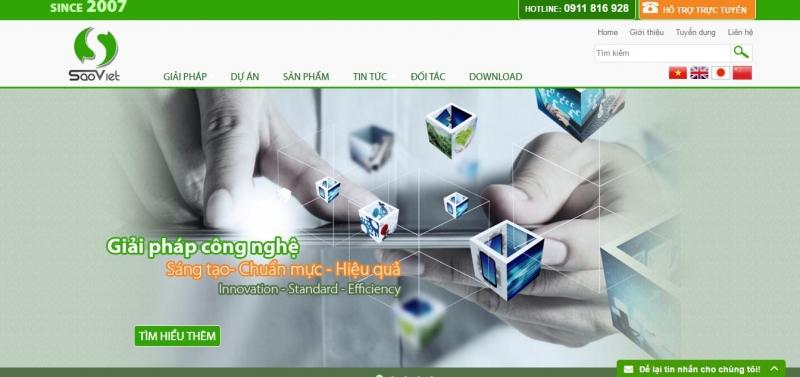 Công ty cổ phần đầu tư phát triển công nghệ Sao Việt