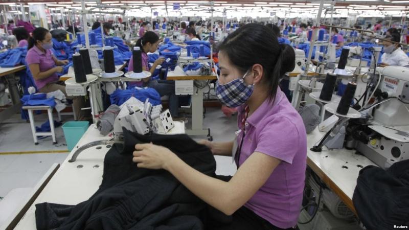 Một trong những phân xưởng của công ty dệt may Gia Định