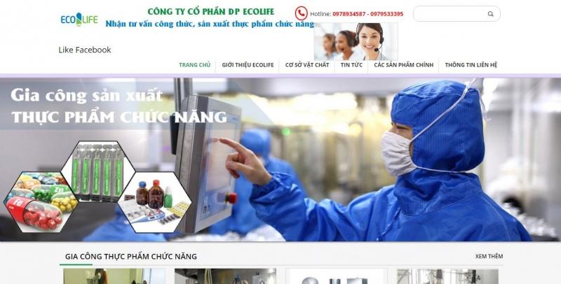 Website Công ty cổ phần DP ECOLIFE