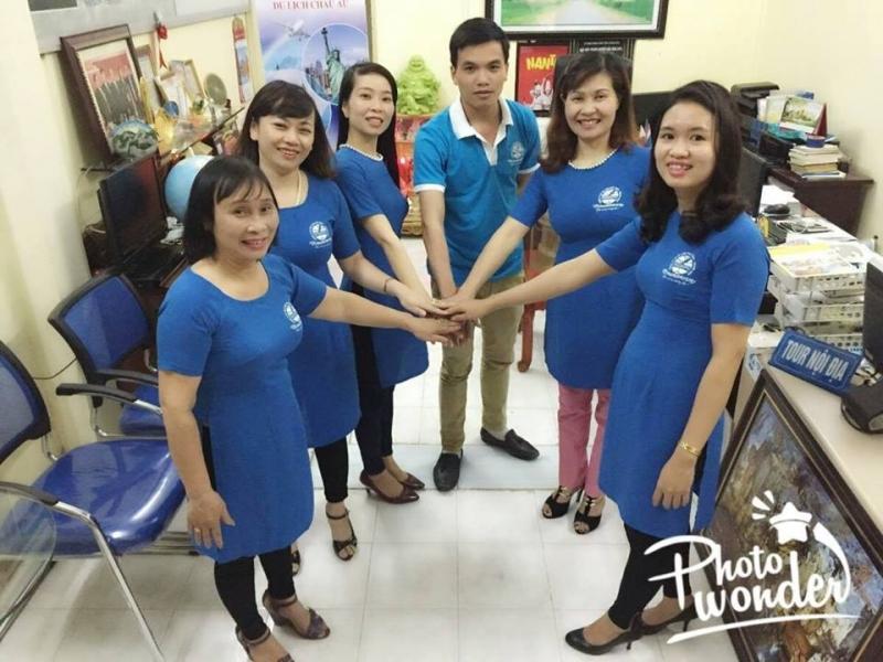 Đội ngũ nhân viên Công ty CP du lịch Việt Nam Thanh Hóa