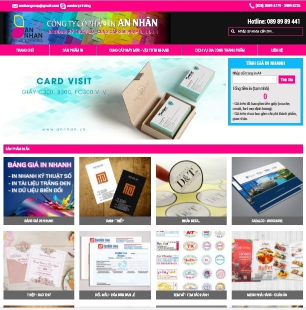 Website chính thức của công ty