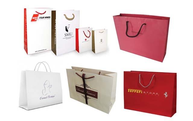 Một số mẫu sản phẩm túi giấy của công ty