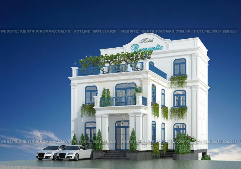 Dự án thiết kế khách sạn kiểu Pháp Tại Quảng Ngãi