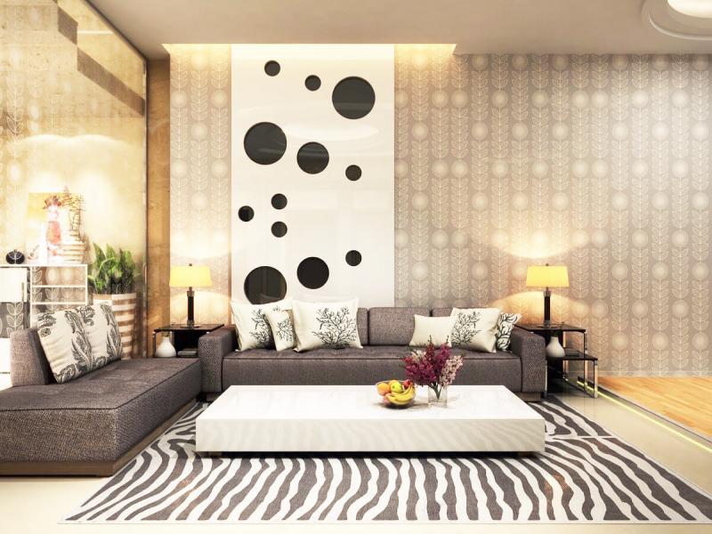 Nội thất phòng khách của ROMAN thiết kế và thi công