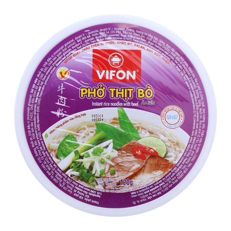 Sản phẩm phở thịt bò ăn liền Vifon