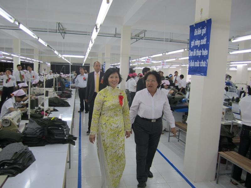 Xưởng may của công ty