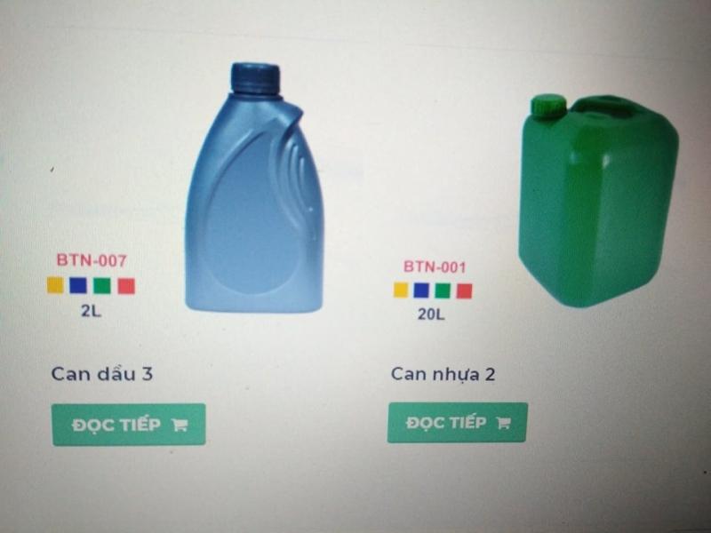 Can Nhựa, thùng nhựa- Nhựa Bình Thuận