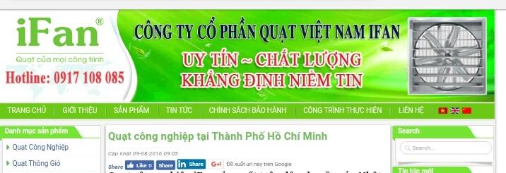 Công ty cổ phần quạt Việt Nam Ifan