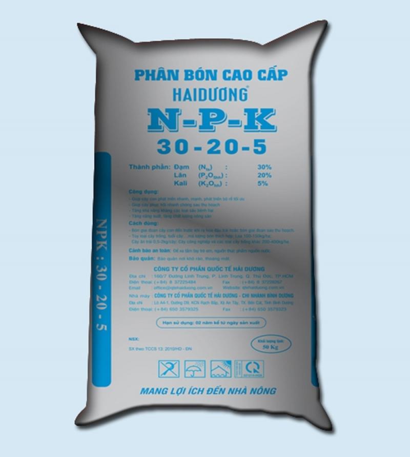 Sản phẩm phân bón cao cấp NPK của công ty quốc tế Hải Dương.