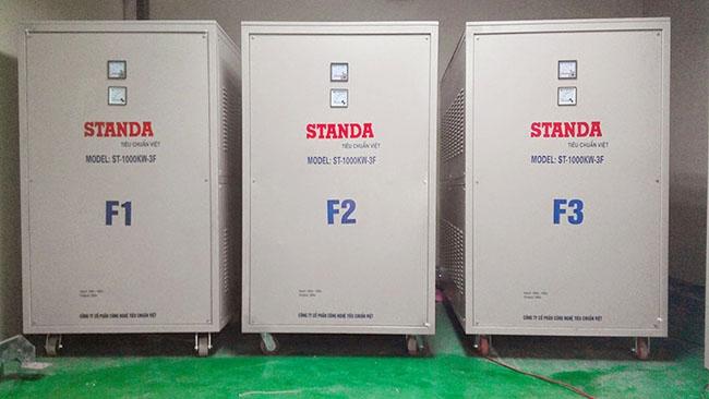 Các máy biến áp  Standa lắp đặt cho doanh nghiệp.