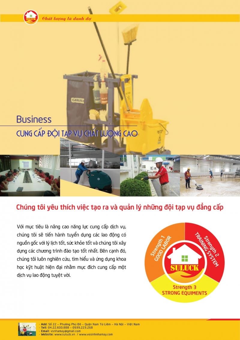 Dịch vụ vệ sinh nhà ở trọn gói của công ty Cổ phần SULUCK FACTORY SERVICES