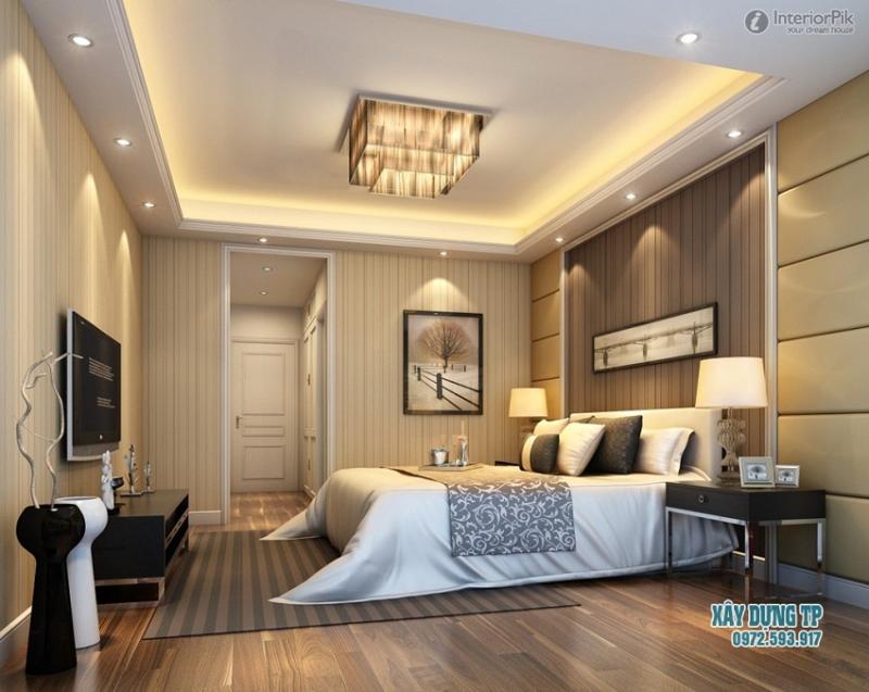 Trần thạch cao phòng ngủ tạo không gian ấm áp
