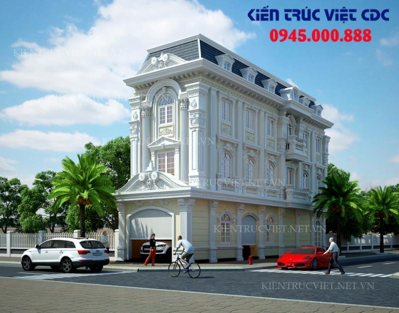 Thiết kế nhà ống kiến trúc Pháp tại Tân Quang, Văn Lâm, Hưng Yên.