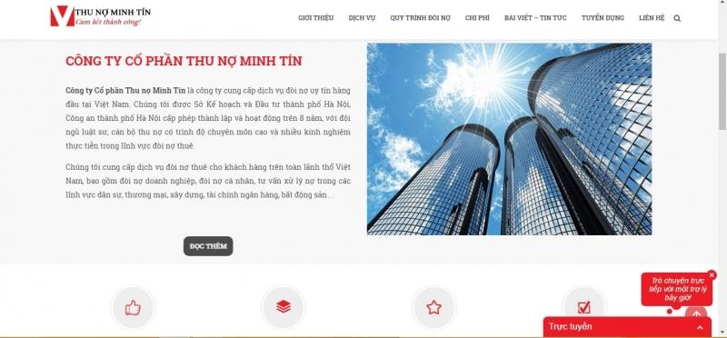 Hình ảnh Website công ty