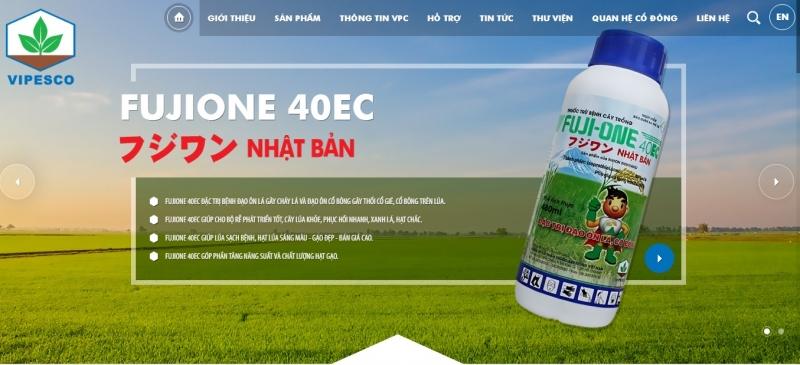 Website của Công Ty Cổ Phần Thuốc Sát Trùng Việt Nam (VIPESCO)
