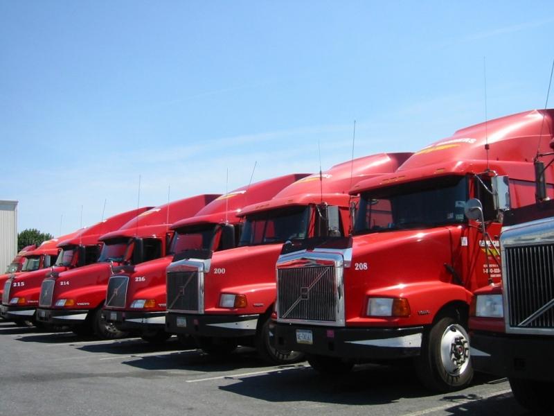 Dàn xe đầu kéo container của công ty cổ phần thương mại vận tải á Đông