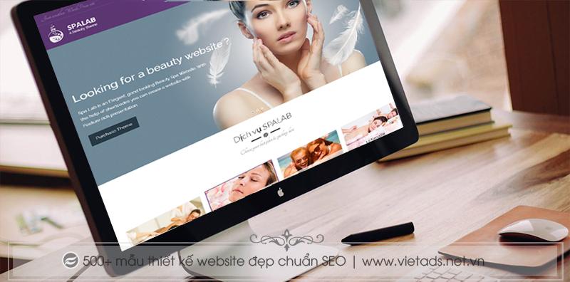 Thiết kế website thẩm mỹ viện, spa với giao diện tinh tế, sang trọng và chuyên nghiệp