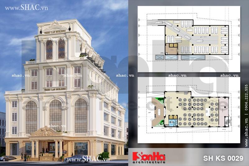 Thiết kế tổ hợp khách sạn nhà hàng và trung tâm tiệc cưới tại Quảng Ninh.