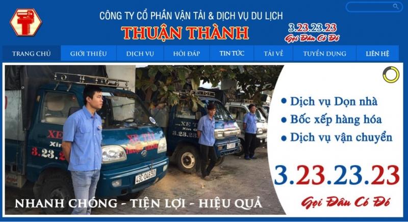 Website của Công Ty Cổ Phần Vận Tải & Dịch Vụ Du Lịch Thuận Thành