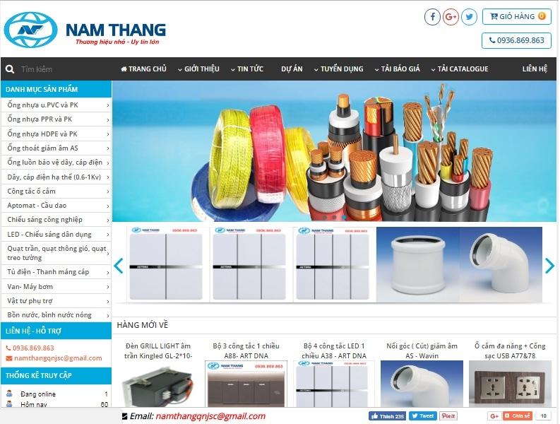 Website chính thức của Công ty Cổ phần Vật tư Nam Thắng