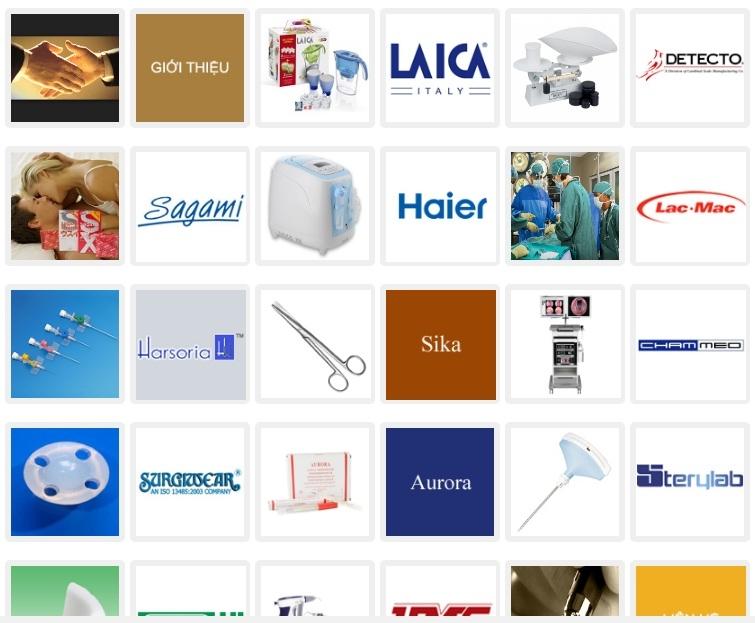 Website của Công ty Cổ phần Vật tư Y tế Hà Nội (HMP)