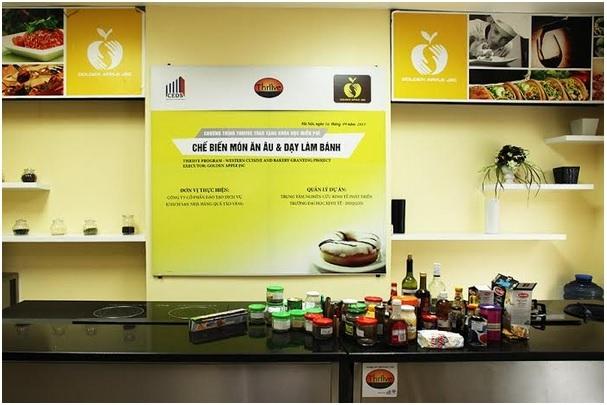 Quả Táo Vàng - trung tâm dạy nấu ăn uy tín tại Hà Nội