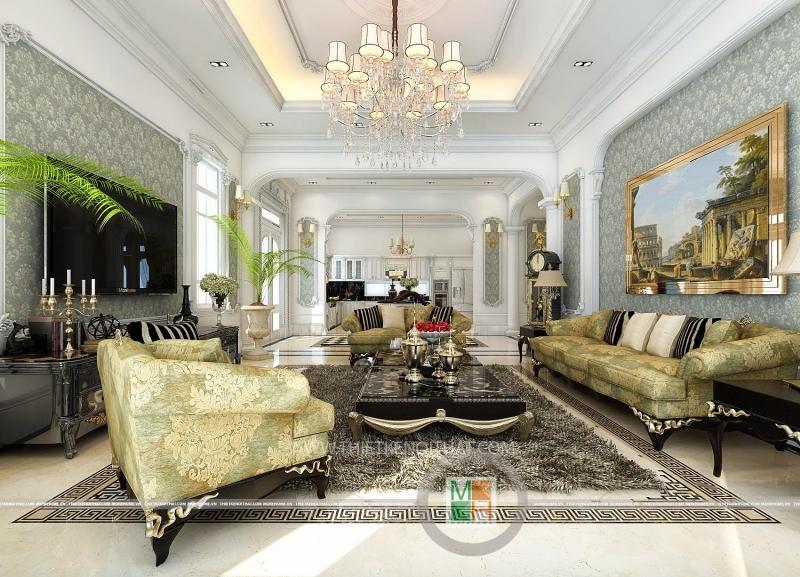 Mẫu thiết kế nội thất cổ điển, trang trọng