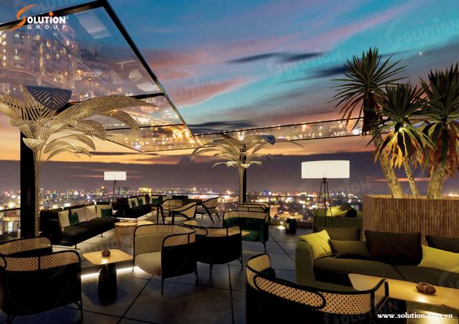 Thiết kế nội thất Skybar khách sạn Hải An