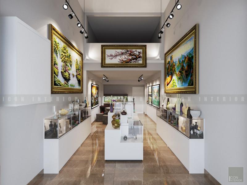 Thiết kế nội thất showroom Tranh Phong Thủy