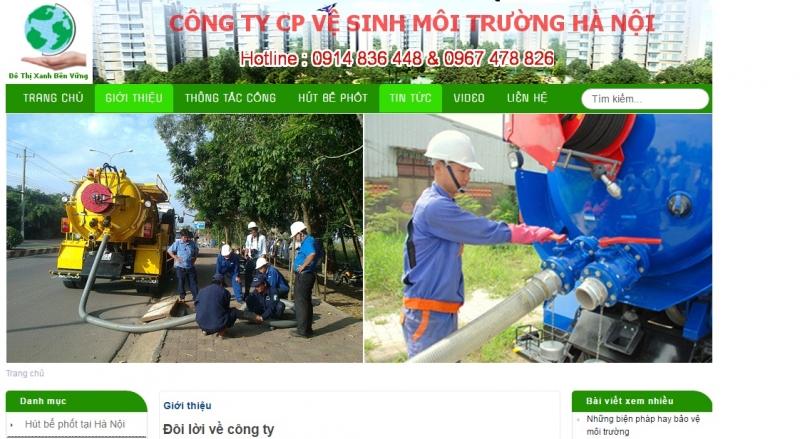 Công ty CP vệ sinh môi trường Hà Nội