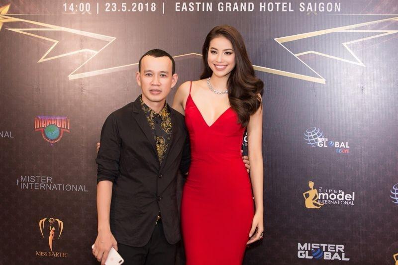 Ông bầu Nadam Phúc Nguyễn và Hoa hậu Phạm Hương