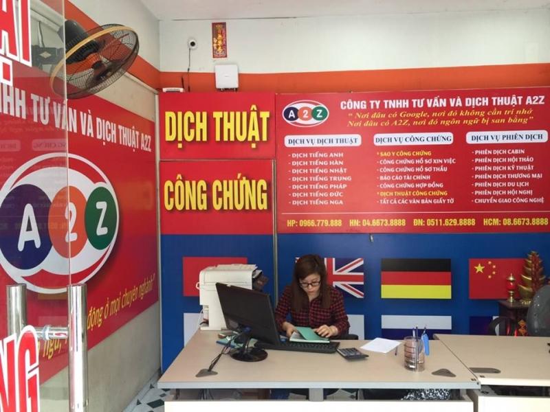 Văn phòng dịch thuật của công ty A2Z