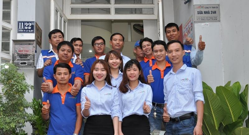 Đội ngũ nhân viên của Sửa nhà 24h