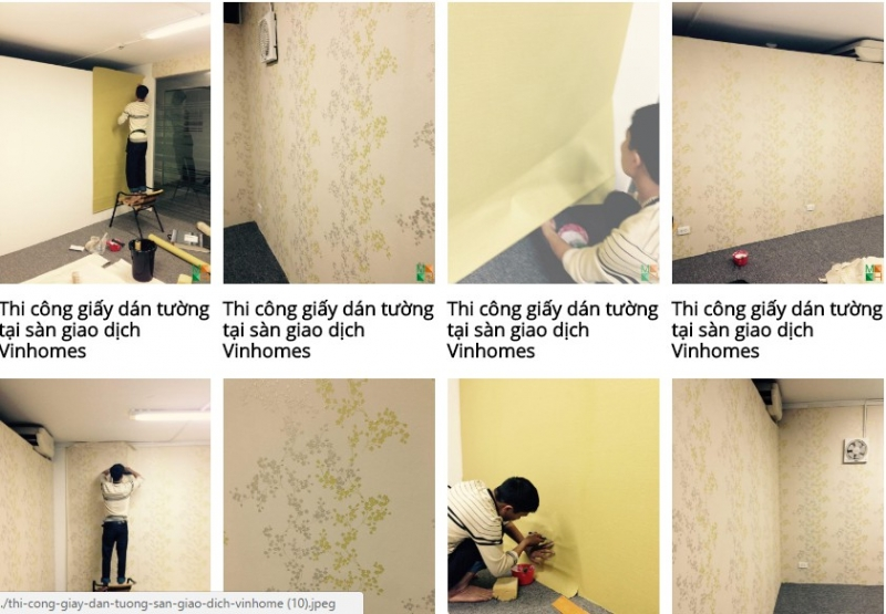Công ty từng thi công giấy dán tường tại sàn giao dịch Vinahomes