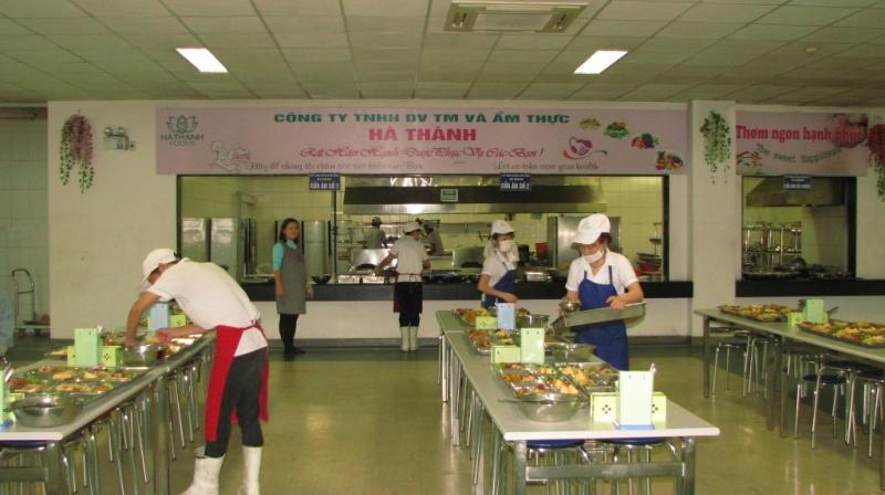 Phòng ăn của công ty Hà Thành Foods