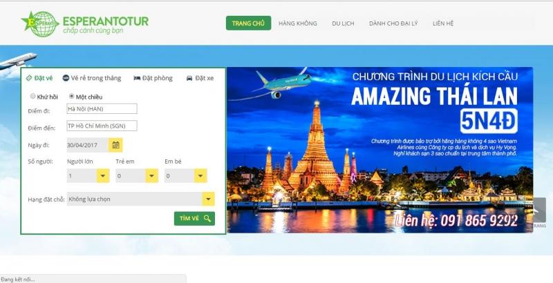 Trang web Công ty Hy Vọng