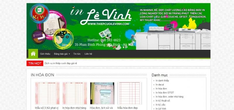 Công ty in ấn Lê Vinh