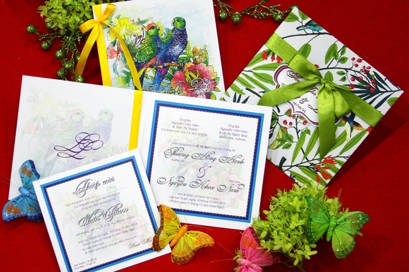 Công ty in Cao Phát với nhiều mẫu thiệp cưới đẹp.