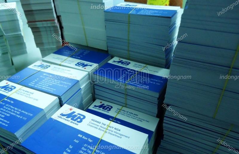in card visit ngân hàng MB Bank