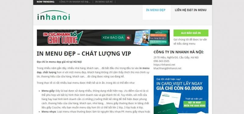 Công ty in Hà Nội