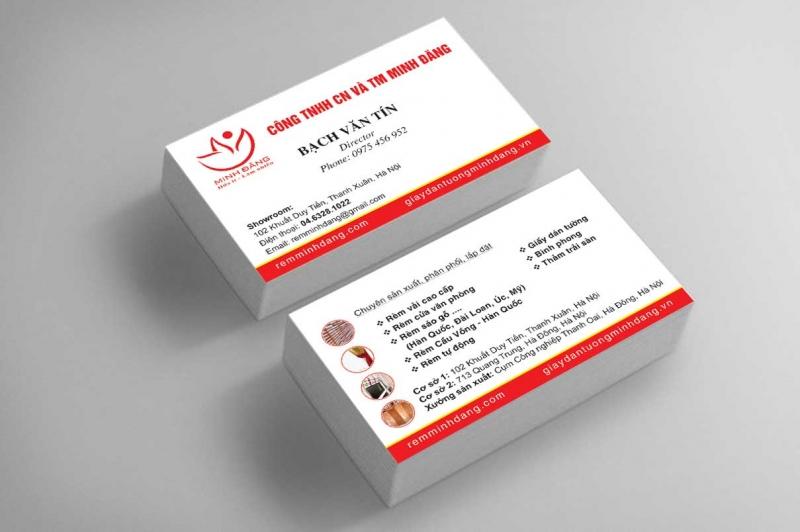 In card visit đẹp tại Công ty in Quang Trung (hình minh họa)