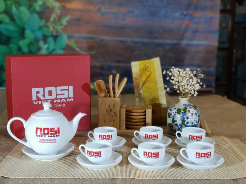 Công ty in ấn Trung Hà chuyên thiết kế, in ấn bộ cốc thủy tinh, ấm chén, bộ ấm trà, cốc sứ...
