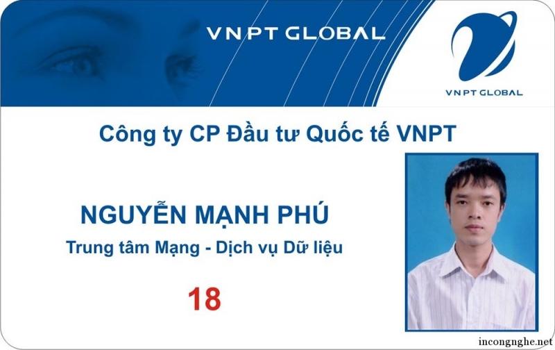 Mẫu in thẻ nhân viên tại công ty in Việt Long